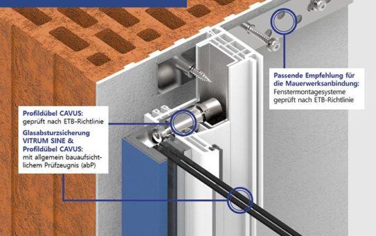 Geprüftes Rundumpaket: Fensteranbindung am Baukörper bei absturzsichernder Verglasung