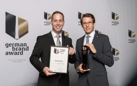 Weidmüller mit dem German Brand Award in Gold ausgezeichnet