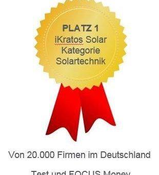 """""""Focus Money und Deutschlands Beste"""" geben der iKratos Solar und Energietechnik GmbH Platz 1"""