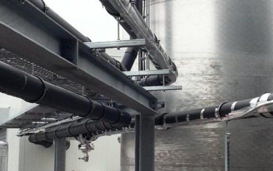 Selbstbegrenzende Heizbänder in einer Biogas Anlage