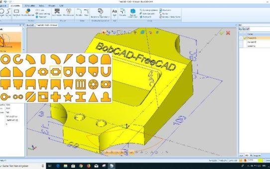 BobCAD-FreeCAD V33 - Gratis CAD-System mit starken Erweiterungen