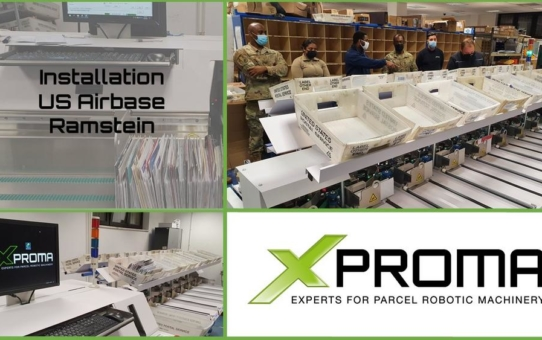 XPROMA installiert Briefsortiersystem auf der US-Militärbasis in Ramstein