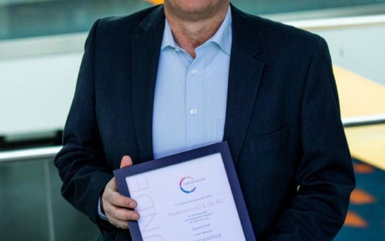 """badenova erhält 2020 erneut """"Energiewende Award"""""""