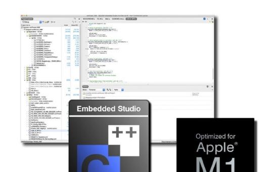 Apple M1-optimierte Version von SEGGER Embedded Studio  ab sofort verfügbar