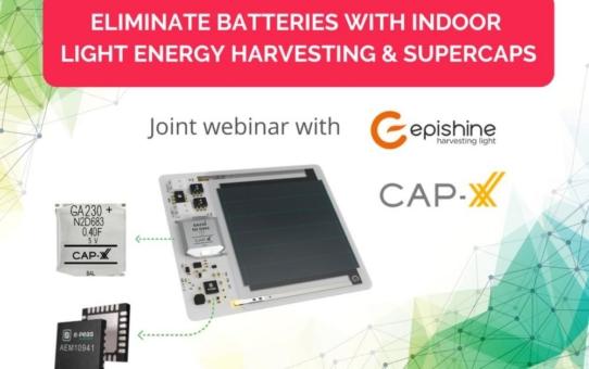 e-peas-Webinar: Wie Sie Innenbeleuchtungen für das Energiemanagement von IoT-Devices nutzen können