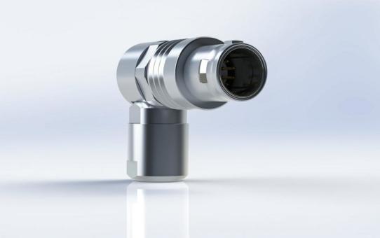 Rundsteckverbinder Y-Circ P Push-Pull mit flexiblem 90° Kabelabgang