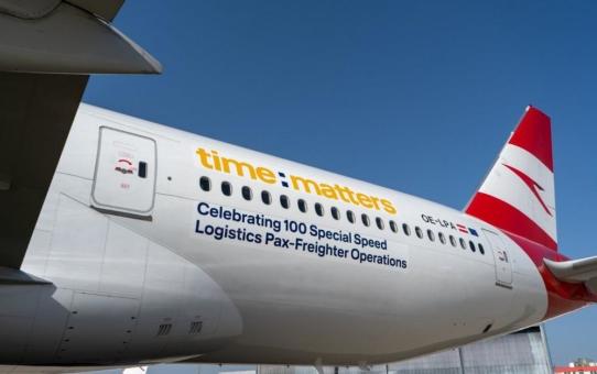 Austrian Airlines und time:matters heben zum 100. Frachtflug ab