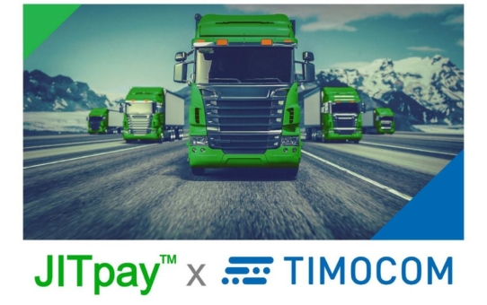JITpay™ kooperiert mit TIMOCOM, dem Anbieter von Europas führender Fracht- und Laderaumbörse