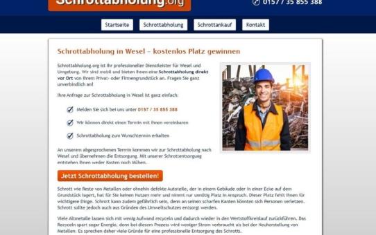 Schrottabholung in Wesel: Entsorgung von Schrott und Metallen