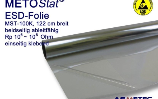 METOSTAT Antistatikfolie - hervorragendes Hilfsmittel gegen elektrostatische Ableitung