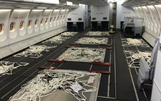 Lufthansa Technik und Airbus ermöglichen temporär Fracht in der Kabine