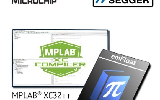 Microchip lizenziert SEGGERs Fließkomma-Bibliothek emFloat für die XC32 V4.0 Compiler-Toolchain