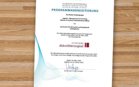 Fernstudium Logistik - Management & Consulting (MBA) erfolgreich reakkreditiert