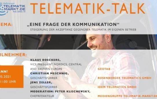 """Die Top-Themen der transport logistic 2021 mit Telematik Talk zur """"Steigerung der Akzeptanz gegenüber Telematik"""""""