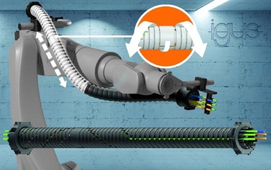 Neue Energieführung triflex TRX revolutioniert die 3D-Bewegung am Roboter