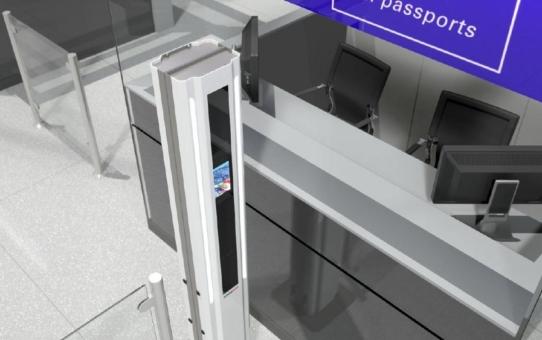 LED Linear Lichtlösung bei biometrischer Erfassung an der stationären Grenzkontrolle