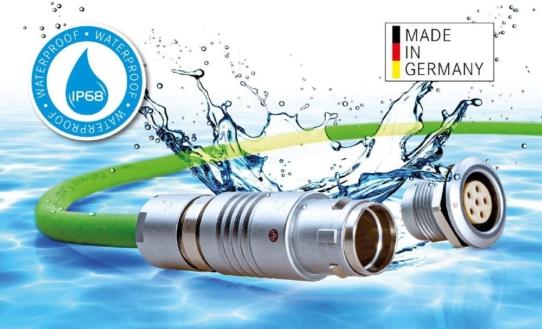 Produkt des Jahres 2021 - wasserdichter Push-Pull Rundsteckverbinder in Schutzart IP68