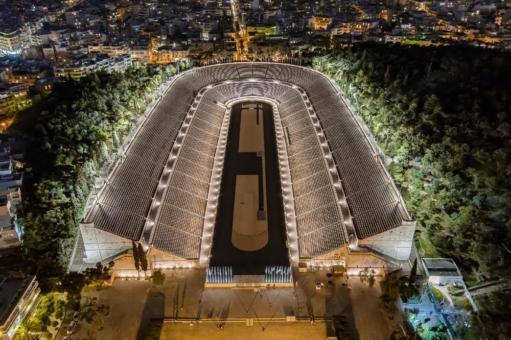 Neue Beleuchtung für das Panathinaiko-Stadion