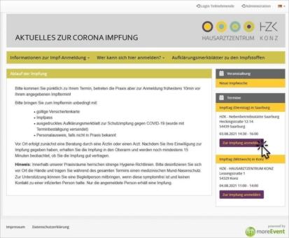 Teilnehmermanagement-System wird zu Terminbuchungs-Tool für Covid-Impfungen