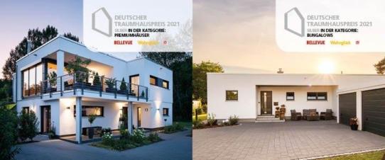 Deutscher Traumhauspreis 2021: Zweifach Silber für FingerHaus