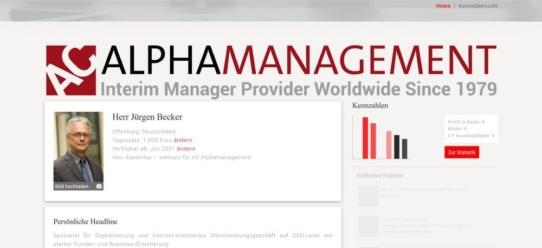 AC Alphamanagement jetzt auf Interim Management-Plattform. Branchen-Pionier übergibt Poolmanagement an UNITEDINTERIM