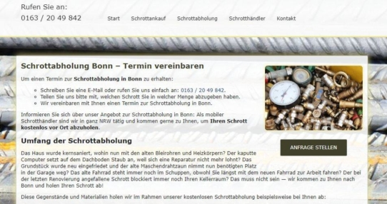 Schrottabholung in Bonn – Schrott-Ankauf-NRW