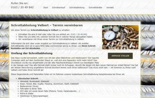 Schrottabholung in Velbert