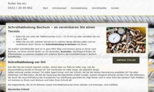 Schrottabholung Bochum – Schrott-ankauf-NRW