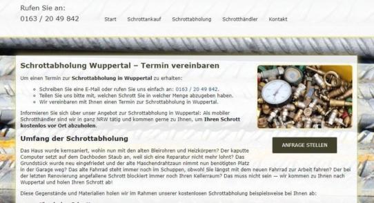 Schrottabholung in Wuppertal